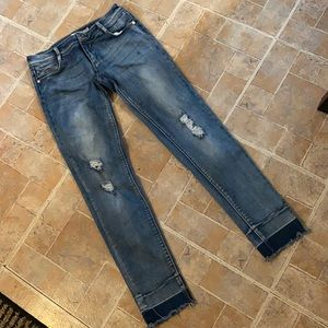 Tractr distressed skinny jeans size kids girls 14